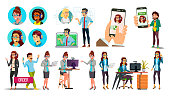 Dispatchers, Client Support Team Vector Characters Set