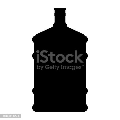 Dispenser large bottles it is black color icon .