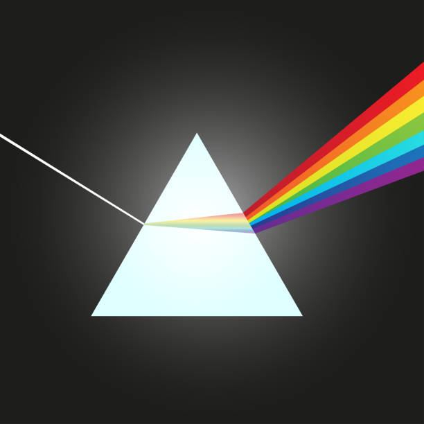 ガラス プリズム - ベクトル図で可視スペクトルに白色光の分散。 - プリズム点のイラスト素材/クリップアート素材/マンガ素材/アイコン素材