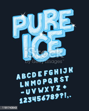 istock Display hand crafted vintage Font Pure Ice. 1191740543