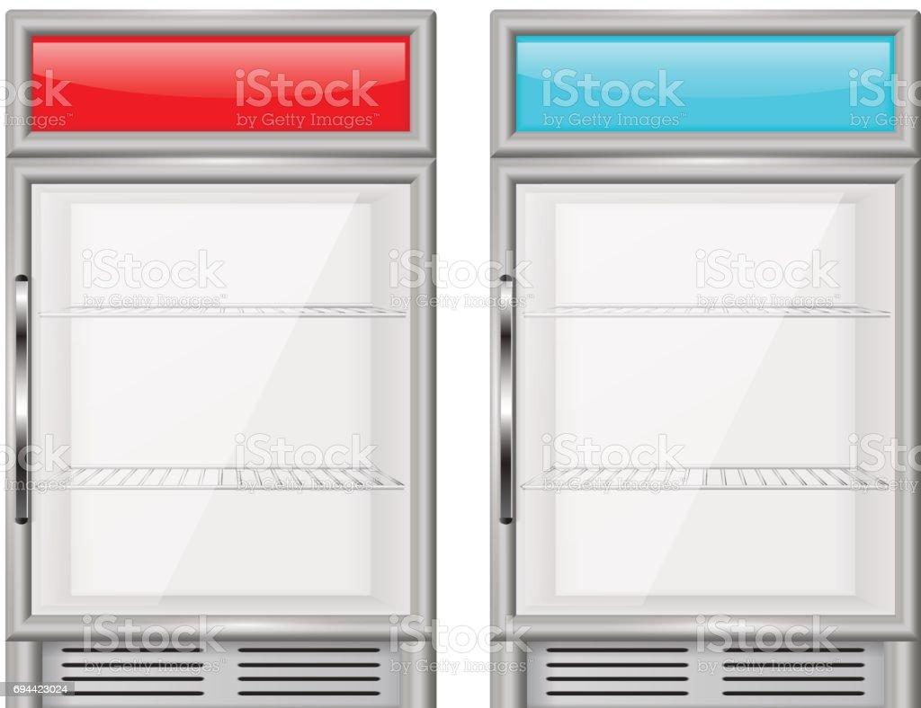 Display Kühlschrank Kleine Kompakte Kühlschrank Stock Vektor Art und ...