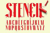 Display stencil sans serif font