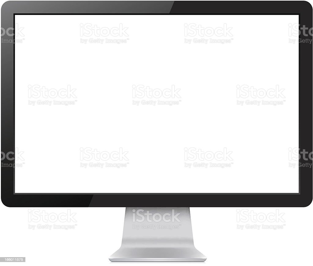 LCD Display royalty-free stock vector art