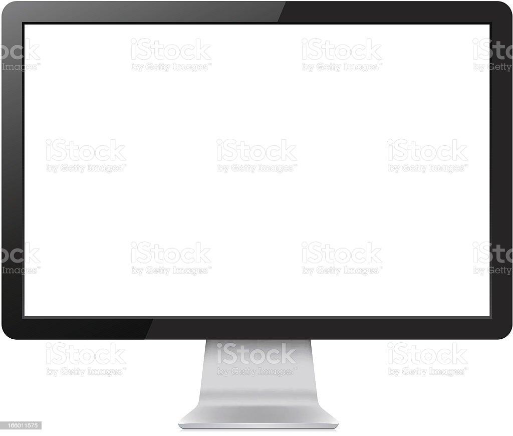 LCD Display vektör sanat illüstrasyonu