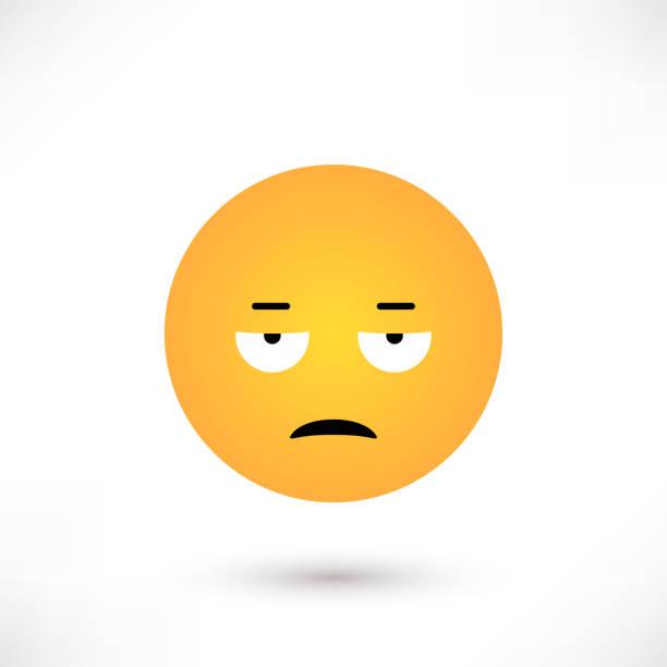 ilustraciones, imágenes clip art, dibujos animados e iconos de stock de ronda de emoticonos disgustado - emoji celoso