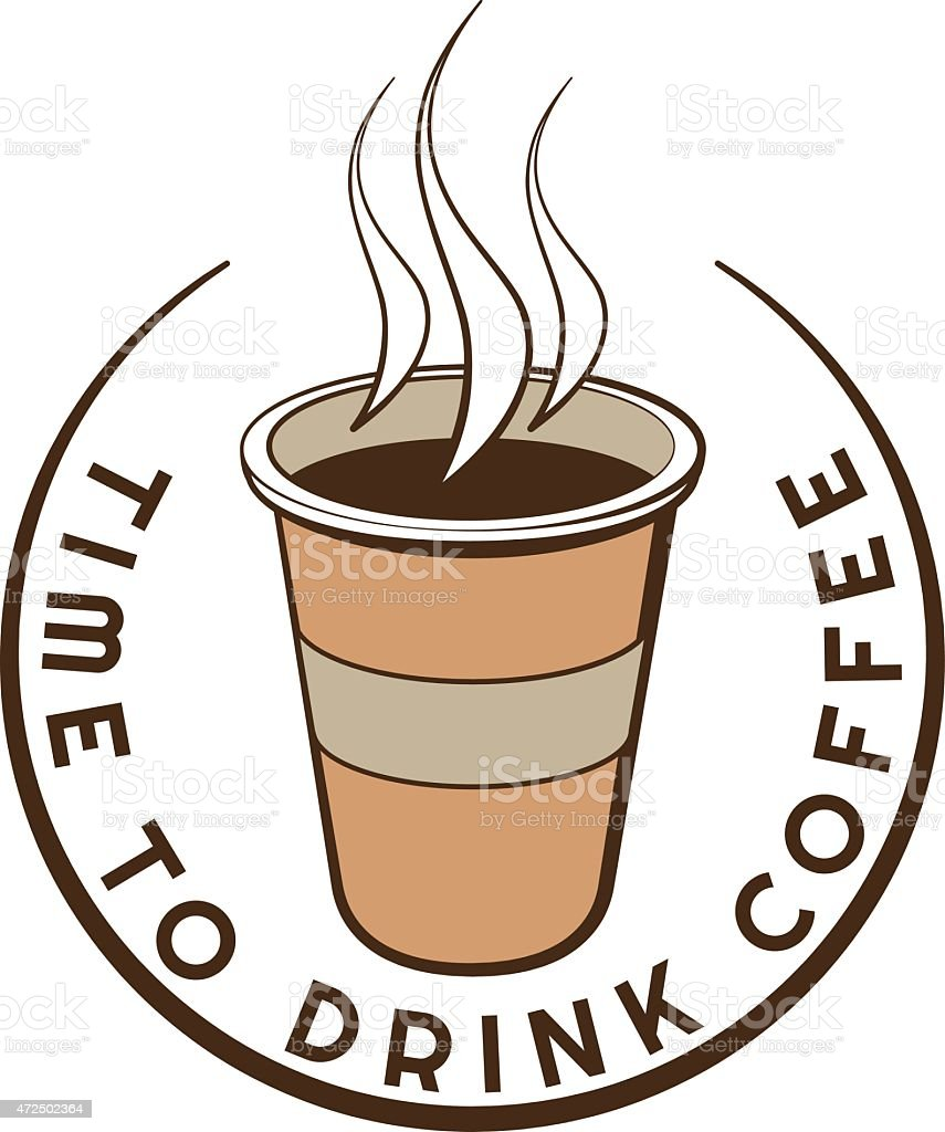Disposable Coffee Cup Logo Design With Text Template ...