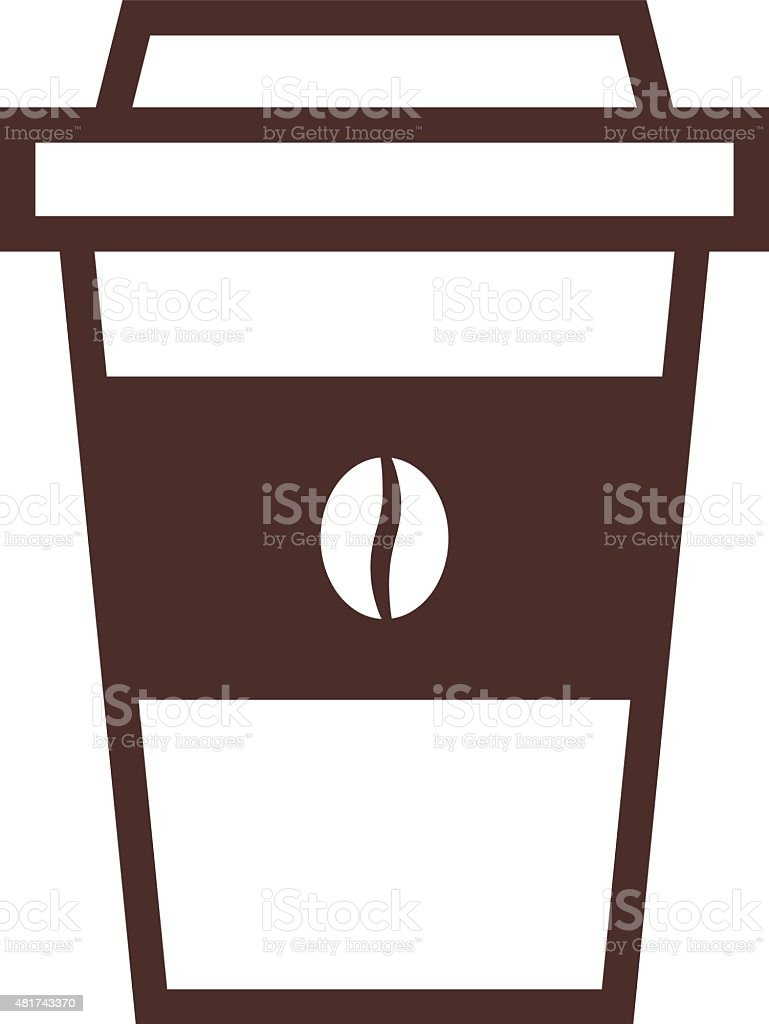 disposable coffee cup outline icon modern minimal flat