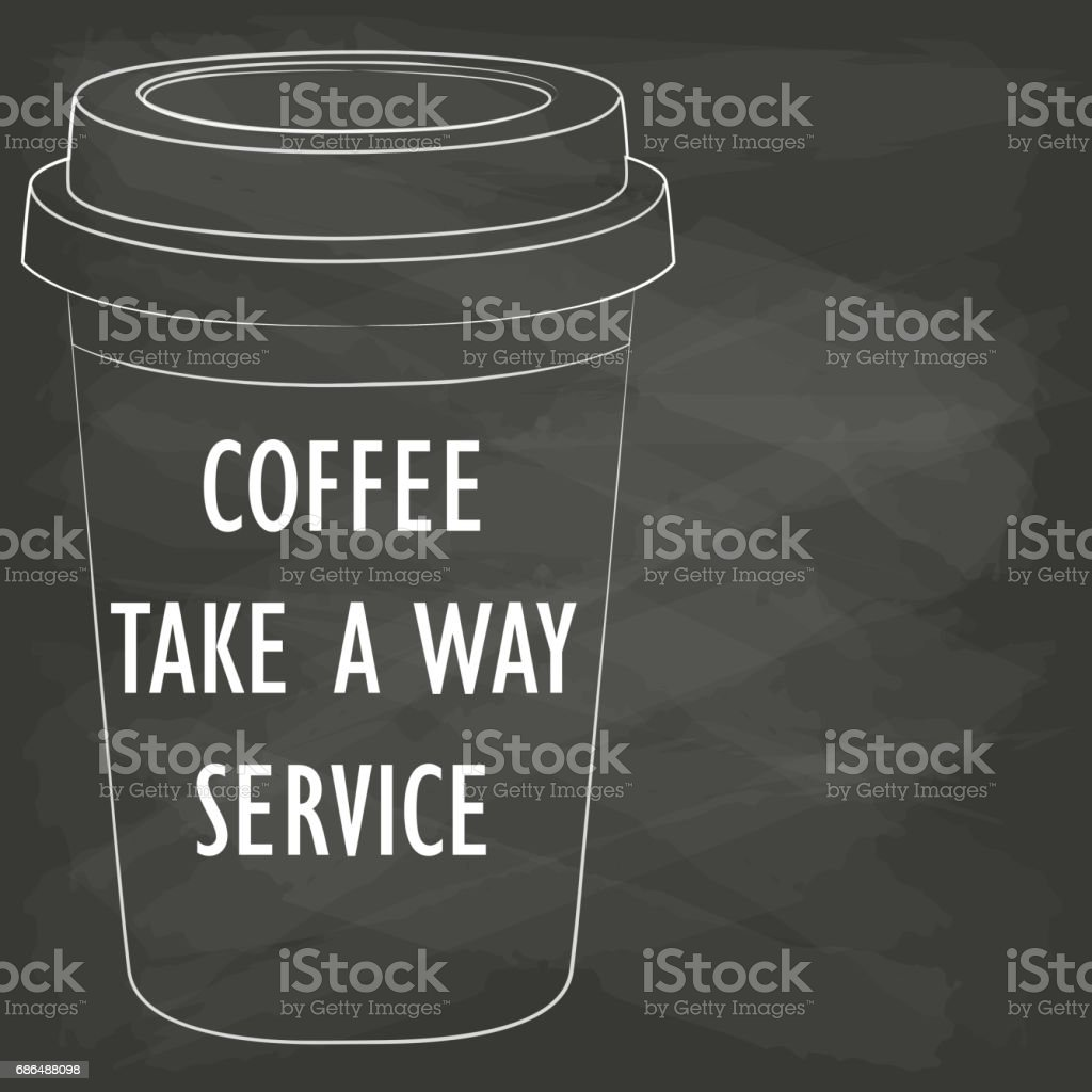 disposable coffee cups vector art illustration