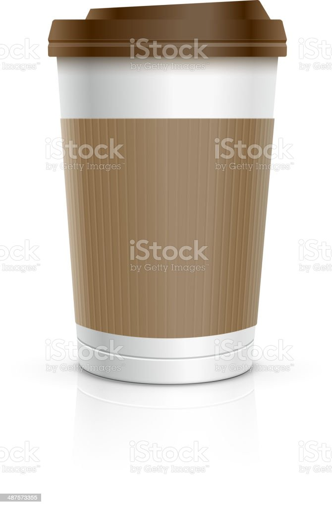 Disposable Cup vector art illustration