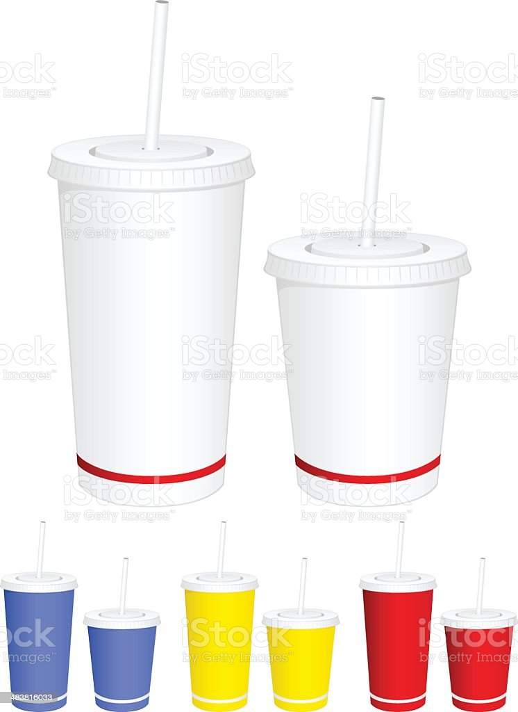 Disposable Cups vector art illustration