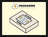 Disposable Foo Container for Takeaway Packaging Box for Single Use Delivery with Sunny Side up Eggs