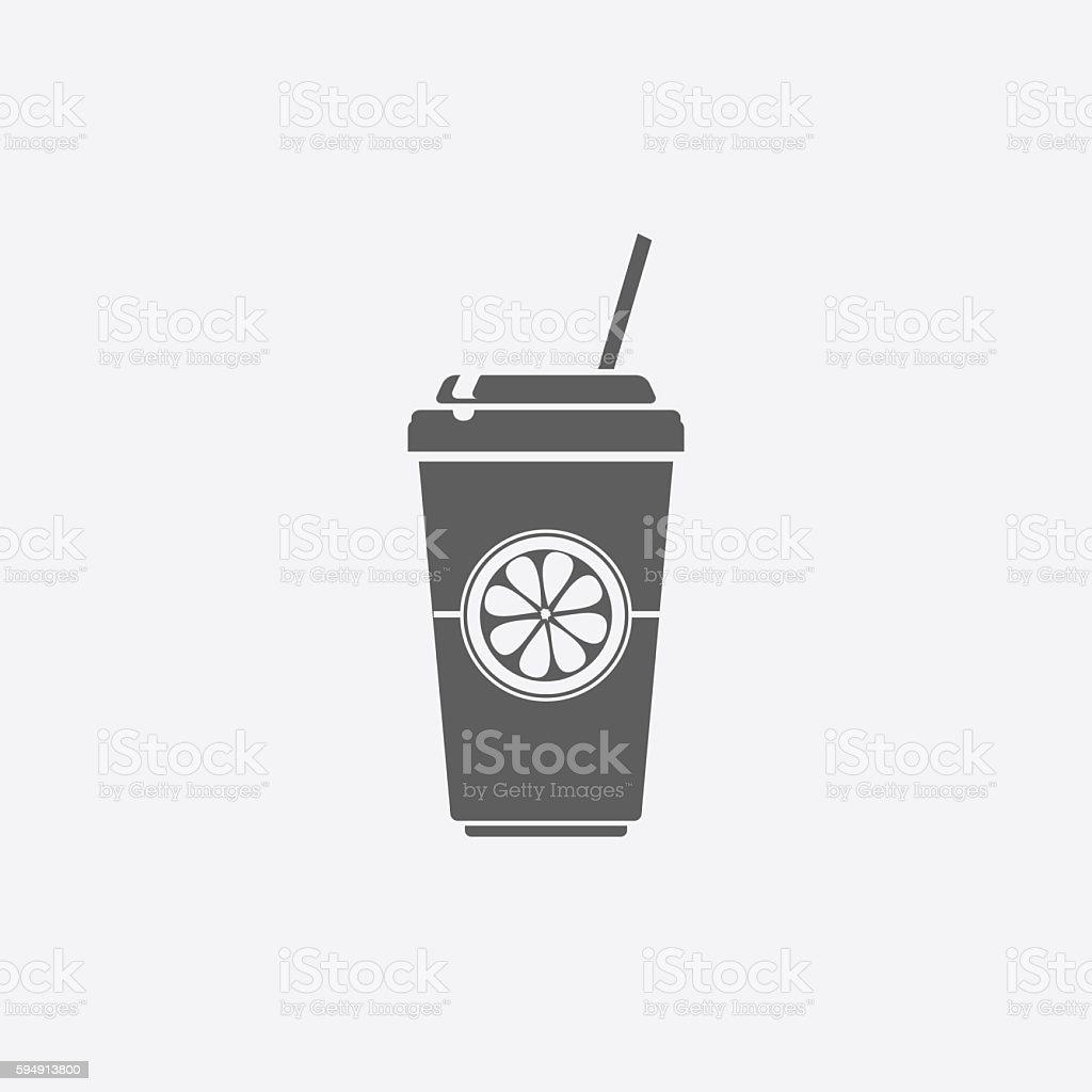 Disposable soda cup icon - illustrazione arte vettoriale