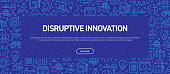 Disruptive Innovation Concept - Business Related Seamless Pattern Web Banner