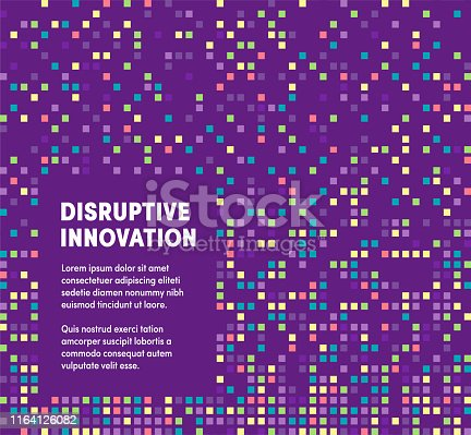Trendy and artistic design for disruptive innovation. Eye catching vector illustration template to boost website, app, presentation or poster design.