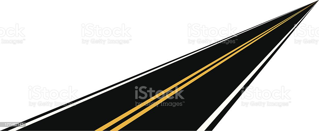 distance road royalty-free stock vector art