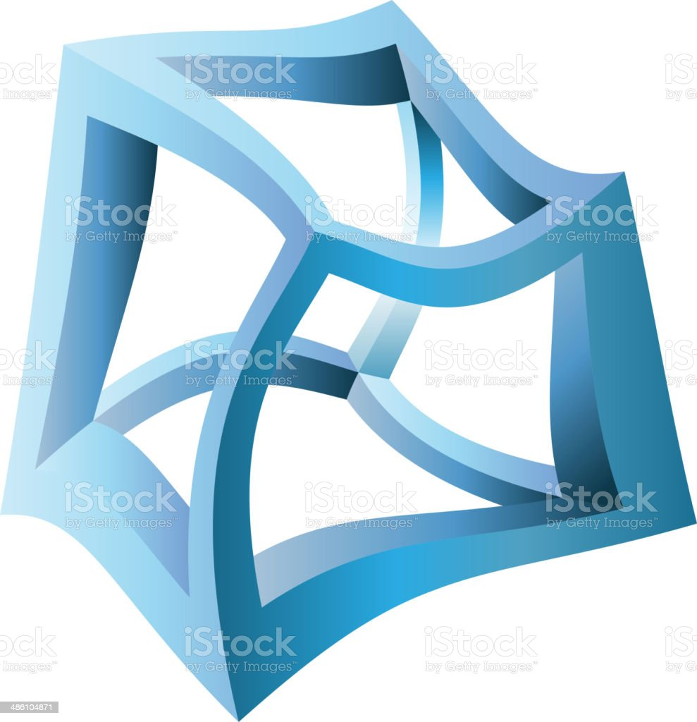 Distorted Cube Illusion - Illustration royalty-free distorted cube illusion illustration stock vector art & more images of abstract