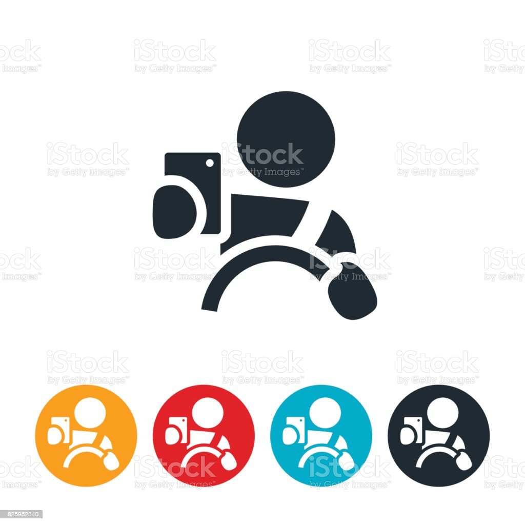 Distracted Driving Icon vector art illustration
