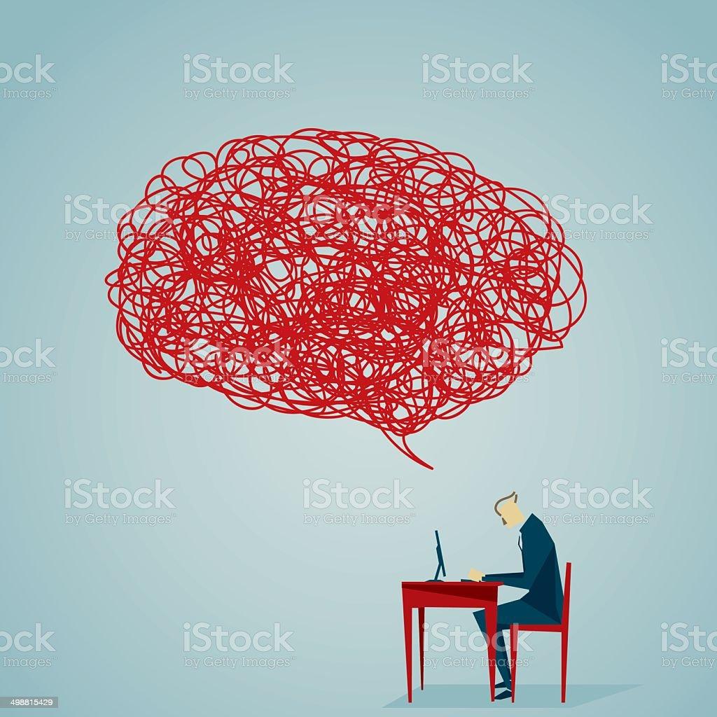 Distraught vector art illustration