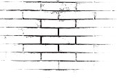 Distress brick wall masonry overlay texture. Grunge urban dirty background. Aging stone template cover. EPS10 vector.