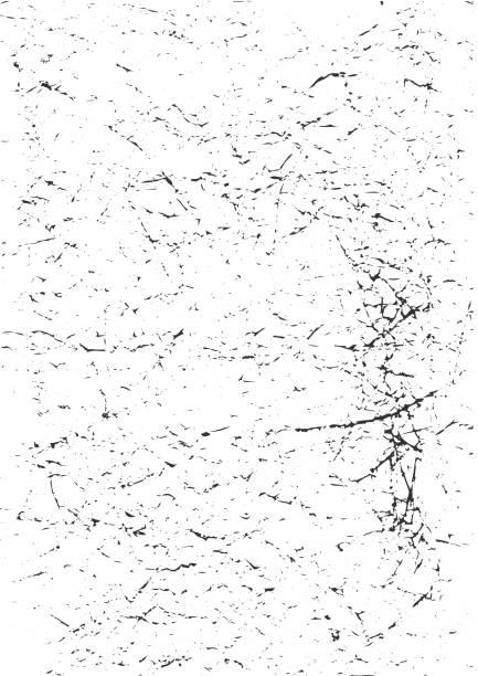 stockillustraties, clipart, cartoons en iconen met nood grunge vector textuur van een oud vuil papier. geweldig ook als grunge overlay rommelige achtergrond met ruis, krassend papier of splatter effecten. - geërodeerd