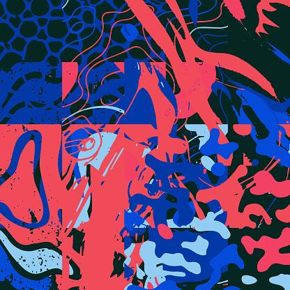 Distress Textures Abstract Vector Set