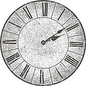 Distressed Antique Clock Face
