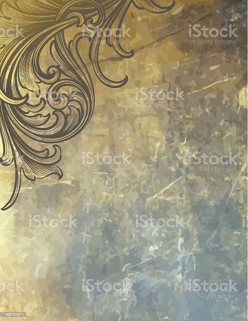 Distressed Corner Background royalty-free stock vector art
