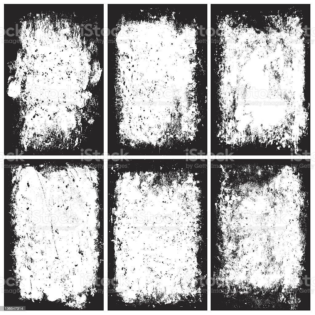 distressed frames vector art illustration