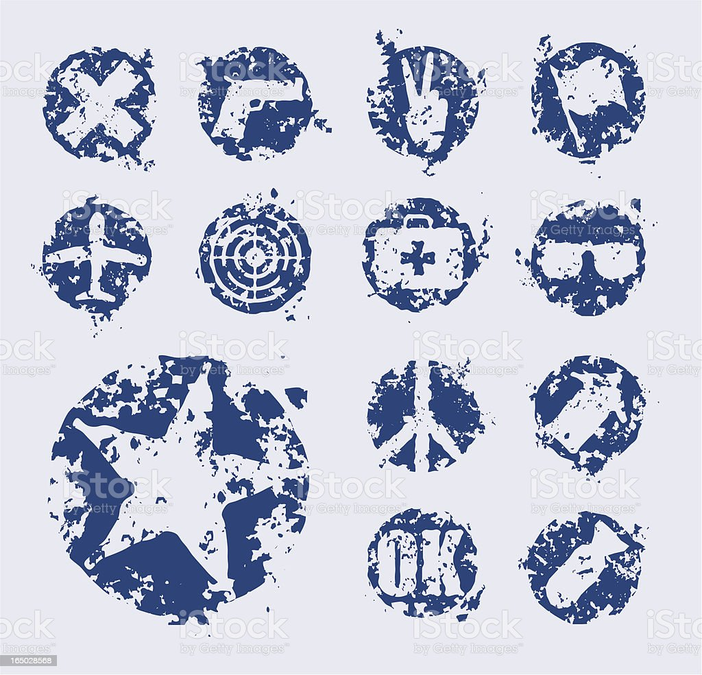 Distressed grunge design symbols, elements, icons royalty-free distressed grunge design symbols elements icons stock vector art & more images of airplane