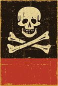 istock Distressed Jolly Roger Sign - Copy Space 165762631