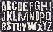 istock Distressed old uppercase alphabet - v2 1308882265