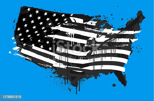 istock Distressed USA abstract grunge flag 1276501315