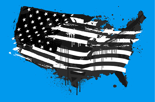 Distressed USA abstract grunge flag