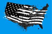 istock Distressed USA abstract grunge flag 1276501315