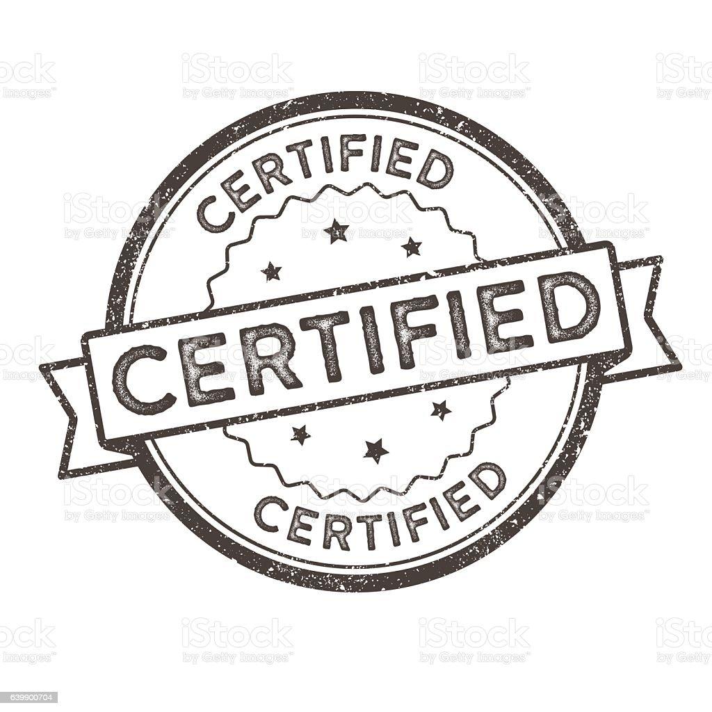Distressed Vector Stamp Seal - Certified – Vektorgrafik