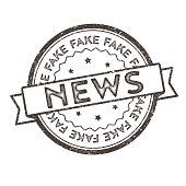 Distressed Vector Stamp Seal - Fake News