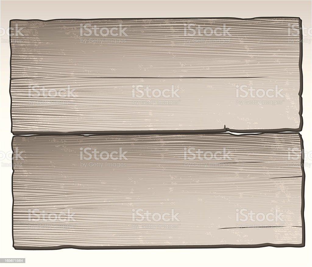 Distressed Wood Planks vector art illustration