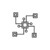 distributed, block chain icon. Element of block chain icon for mobile concept and web apps. Thin line distributed, block chain icon can be used for web and mobile