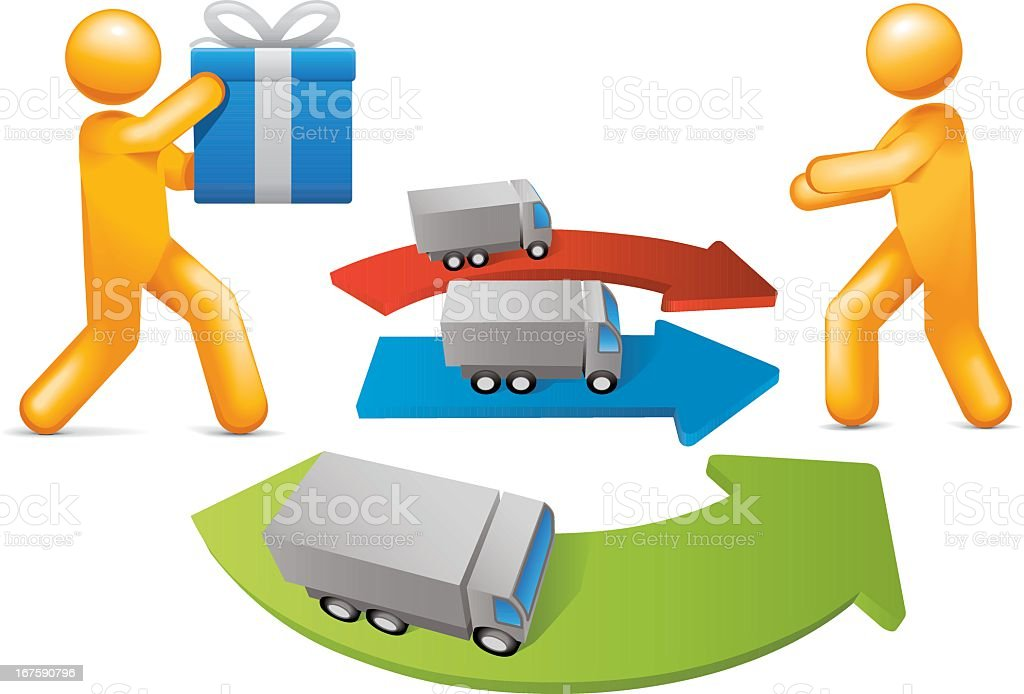 Distribution Channels royalty-free stock vector art