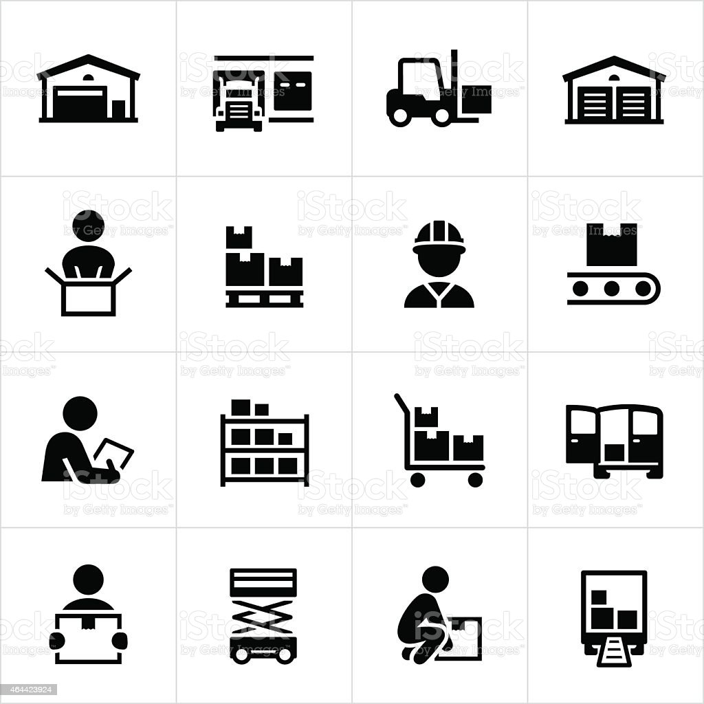 Distribution Warehouse Icons
