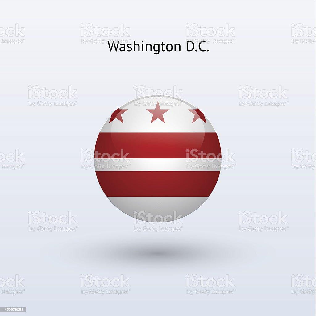 Distrito de Columbia bandeira (Washington D.C.) - ilustração de arte em vetor