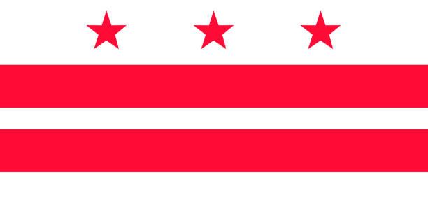 ilustrações, clipart, desenhos animados e ícones de distrito de colúmbia vector bandeira. ilustração em vetor. estados unidos da américa. - bandeira union jack