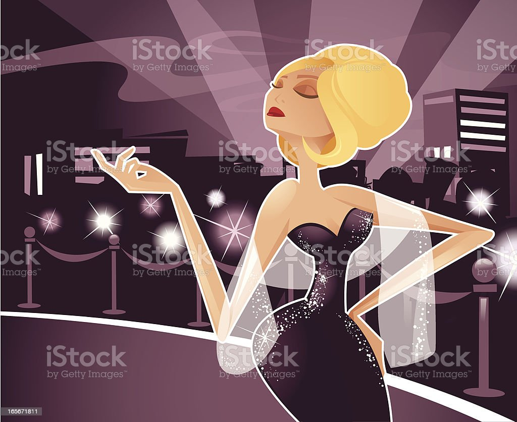 Diva vector art illustration