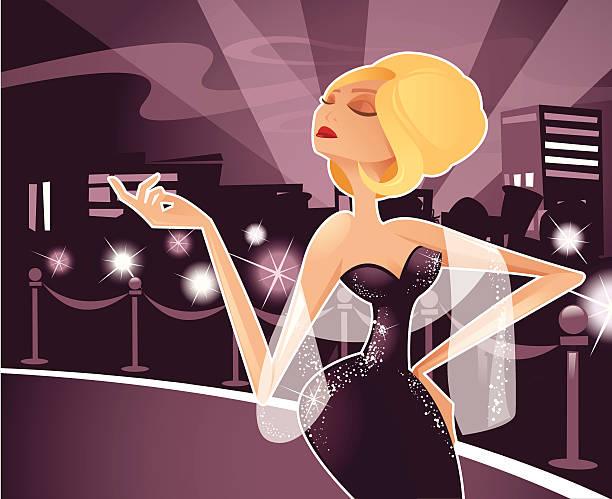 Diva vector art illustration