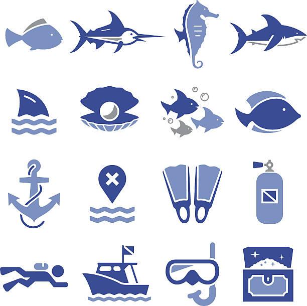 dive 아이콘-pro 시리즈 - 오리발 stock illustrations