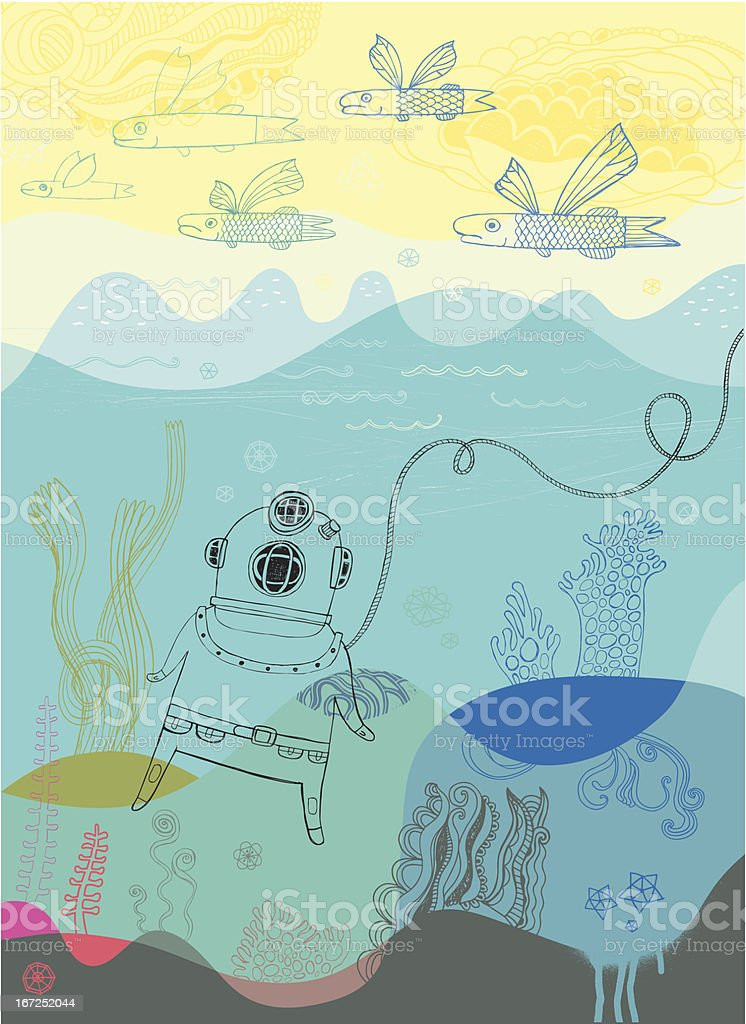 Diver royalty-free diver stock vector art & more images of animal