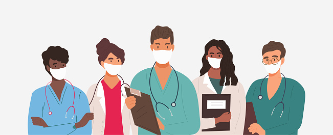Diverse group of medics or health workers