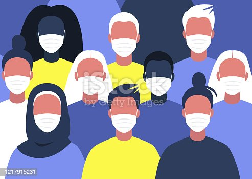 istock A diverse group of people wearing face masks, coronavirus outbreak 1217915231