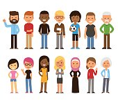 Diverse people set