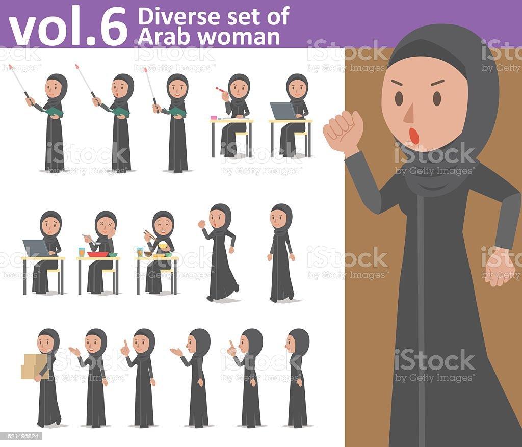 Diverse set of Arab woman , EPS10 vector format vol.6 diverse set of arab woman eps10 vector format vol6 - immagini vettoriali stock e altre immagini di adulto royalty-free